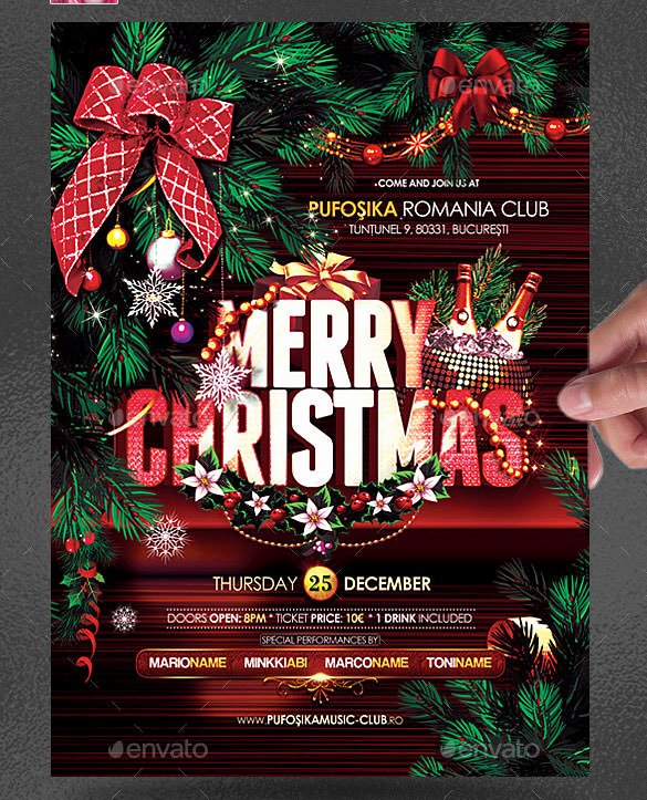 Free Christmas Poster Template New 75 Christmas Poster Templates Free Psd Eps Png Ai