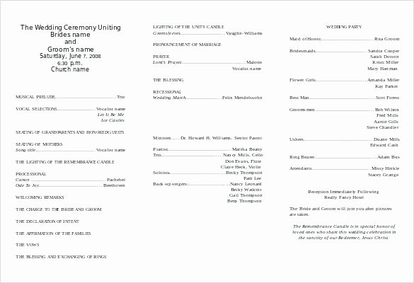 Free Church Program Template Awesome Template for Church Program Best Wedding Contracts
