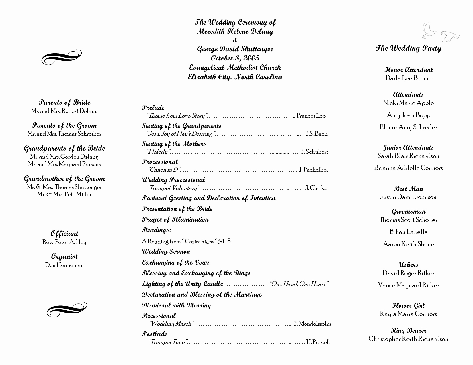Free Church Program Template Beautiful Wedding Itinerary Templates Free
