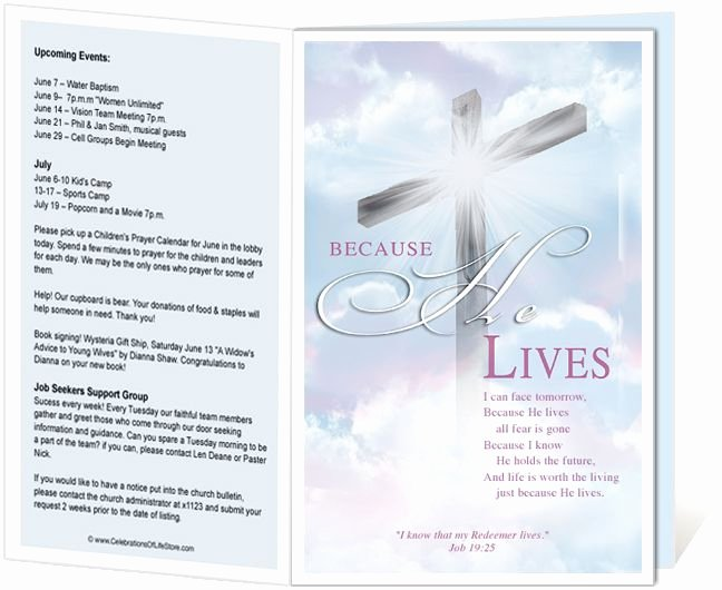 Free Church Program Template Fresh Church Bulletin Templates Cross Church Bulletin Template