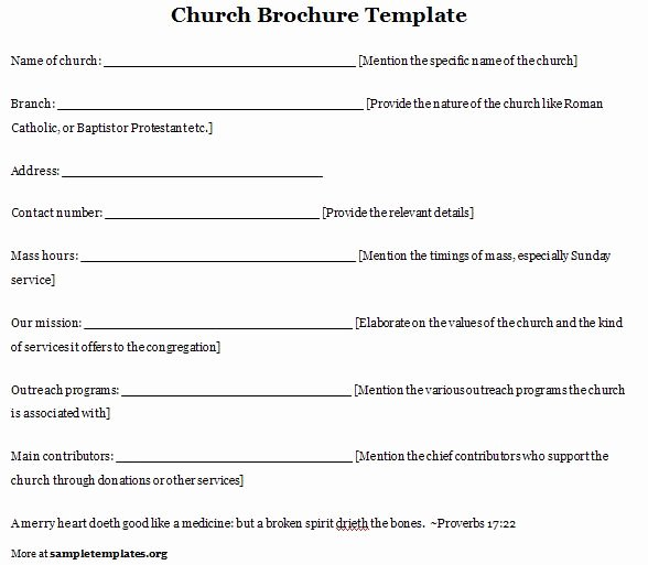 Free Church Program Template Fresh Church Program Template