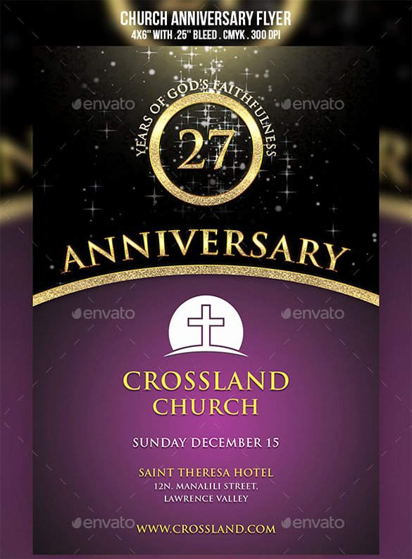 Free Church Program Template New Church Anniversary Program Template Free Templates