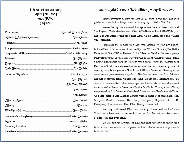 Free Church Program Template New Church Bulletin Templates