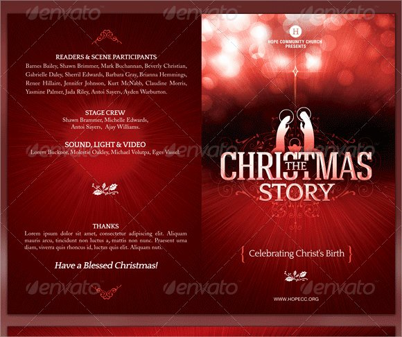 Free Church Program Template Unique 9 Church Bulletin Templates Download Documents In Psd Pdf