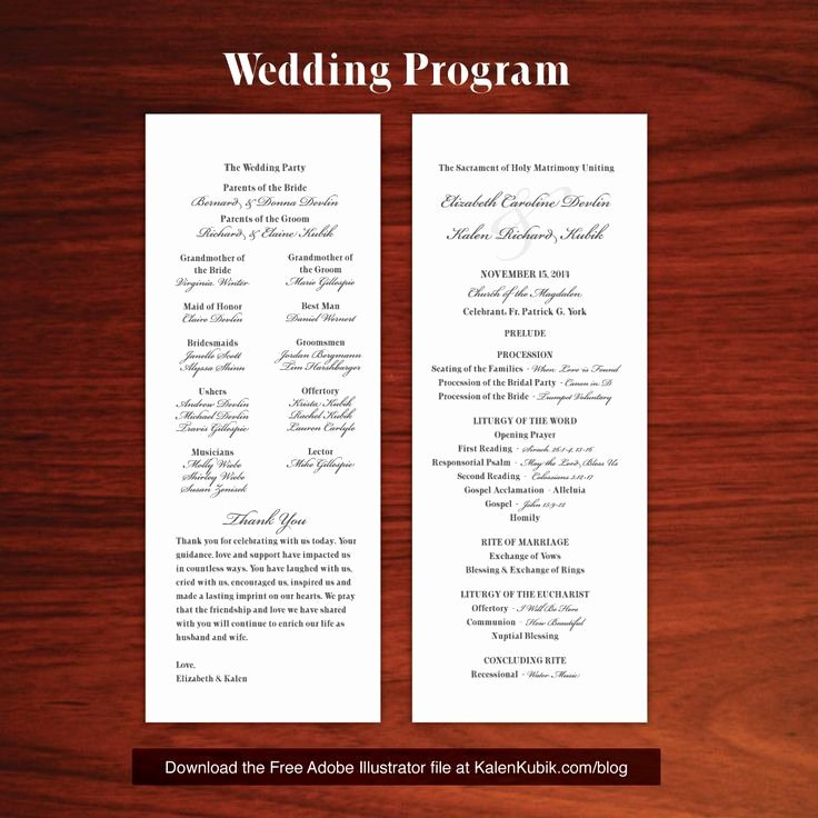 Free Church Programs Template Beautiful Anglican Church Wedding Program Template Templates