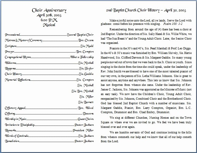 Free Church Programs Template Best Of Church Bulletin Templates
