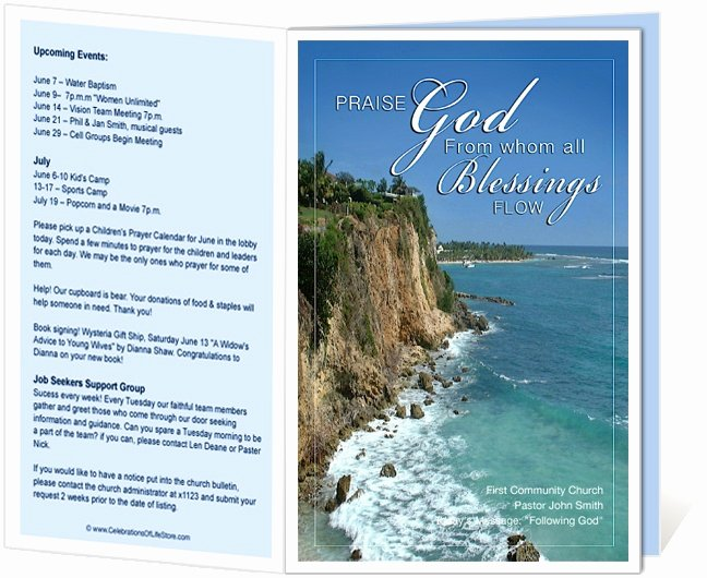 Free Church Programs Template Best Of Church Bulletin Templates Praise Church Bulletin