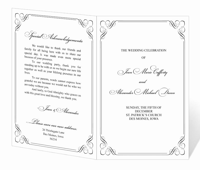 Free Church Programs Template Lovely 7 Best Of Printable Wedding Program Templates