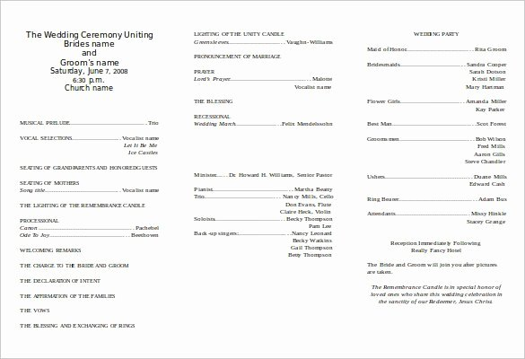 Free Church Programs Template Unique 67 Wedding Program Template Free Word Pdf Psd
