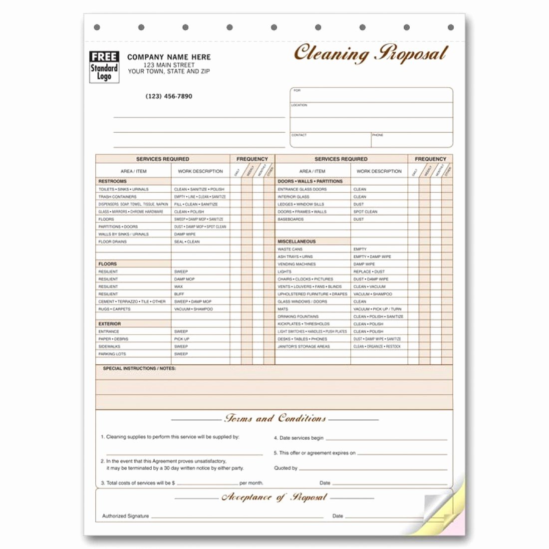 Free Cleaning Proposal Template Best Of Cleaning Proposal forms