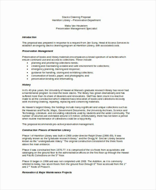 Free Cleaning Proposal Template Luxury Cleaning Service Proposal Templates 8 Free Word Pdf