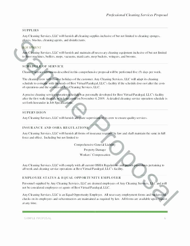 Free Cleaning Proposal Template New Cleaning Services Proposal Template Janitorial Proposal