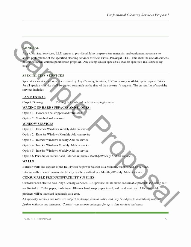 Free Cleaning Proposal Template New Supply order form Template New Best S Template Fice