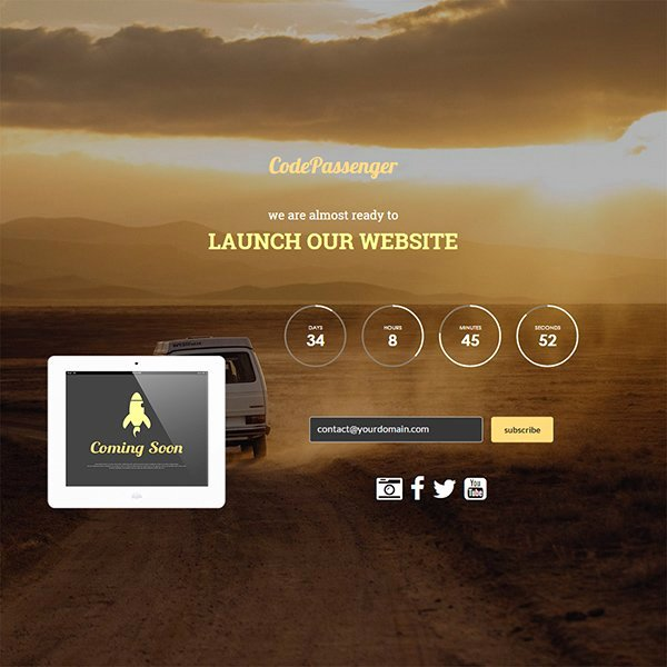 Free Coming soon Template Best Of 21 Free Ing soon Under Construction HTML Web Templates