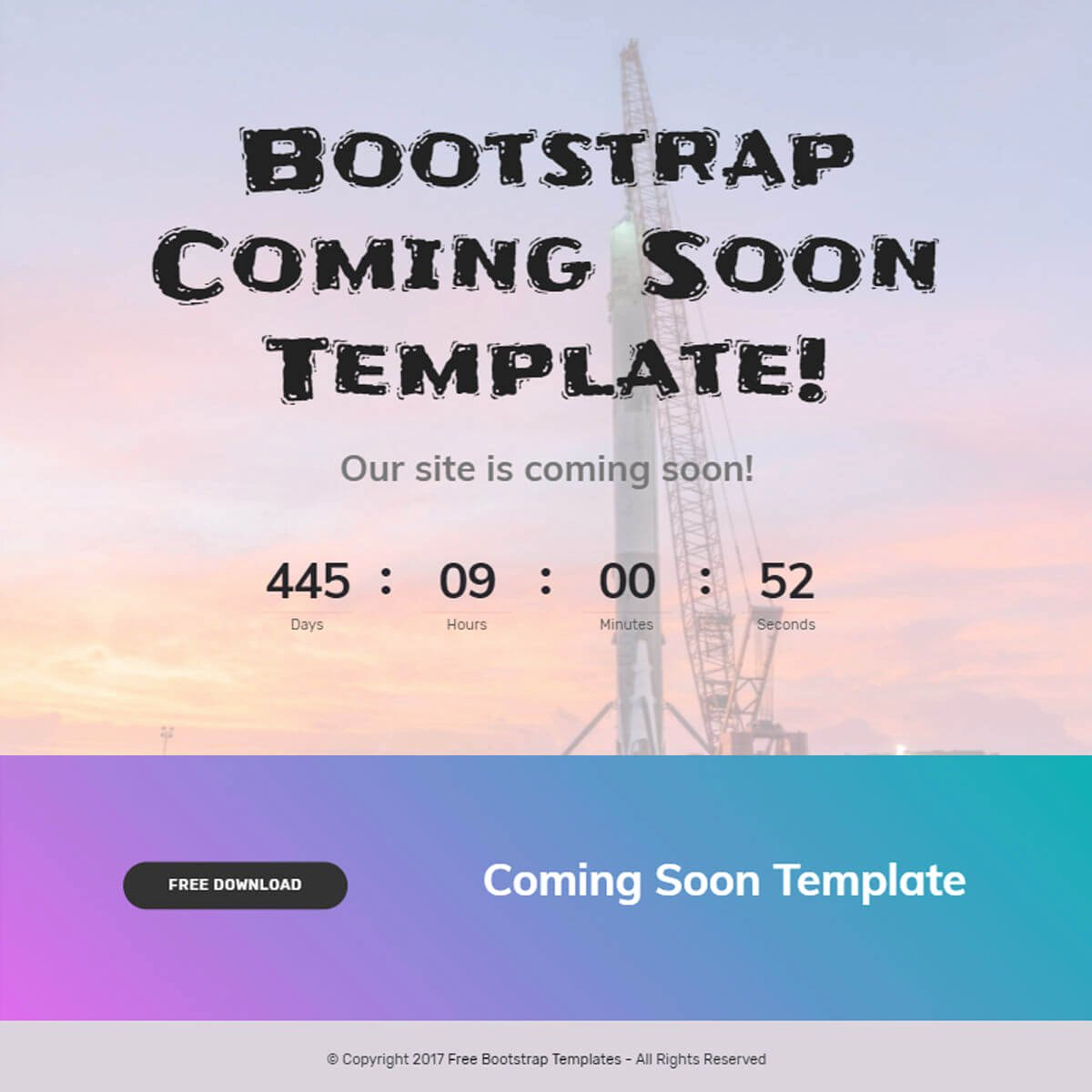 Free Coming soon Template Best Of Free Bootstrap Template 2018
