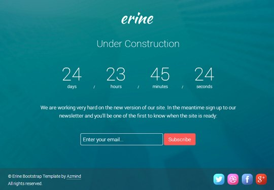 Free Coming soon Template Inspirational Free Template Erine Bootstrap Ing soon Page