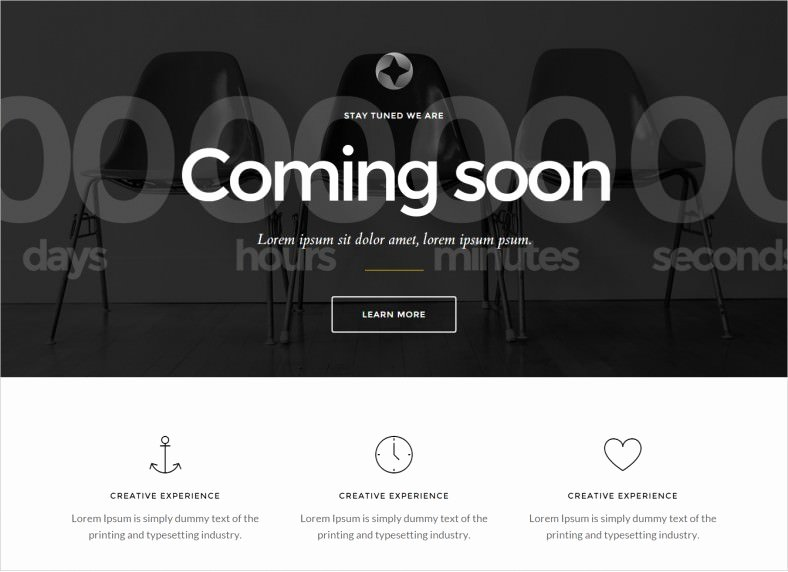 Free Coming soon Template Inspirational HTML5 Ing soon Page Templates & themes