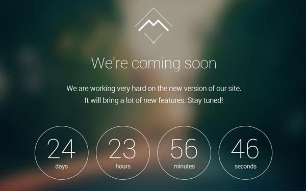 Free Coming soon Template Luxury Mira Ing soon Landing Page