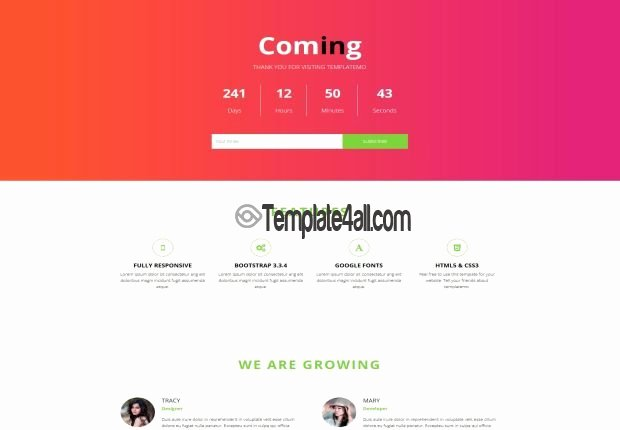 Free Coming soon Template Luxury Responsive Free Ing soon HTML5 Template Download