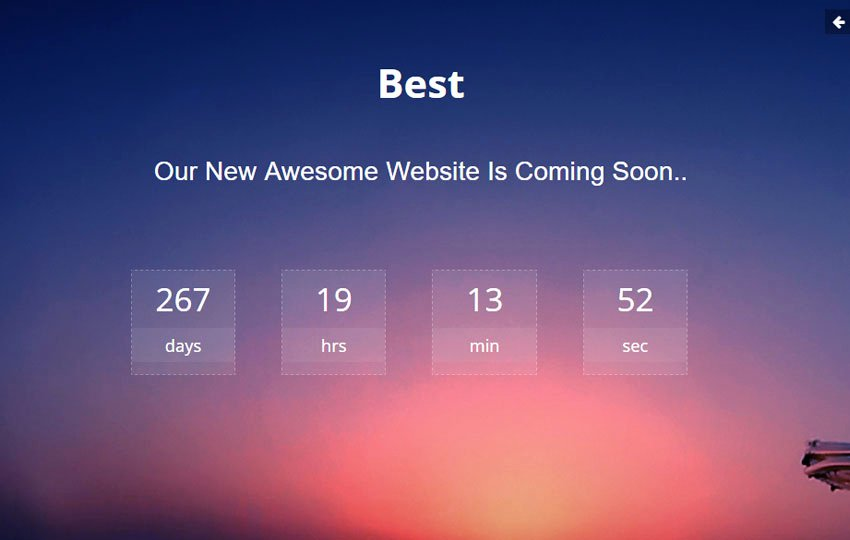 Free Coming soon Template Unique Best Ing soon HTML Bootstrap Template Free Download