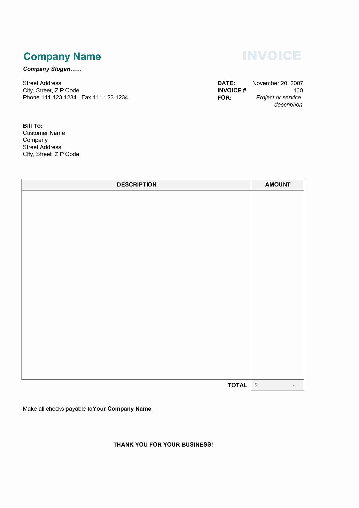 Free Commercial Invoice Template Fresh 17 Best Photos Of Printable Mercial Invoice Sample