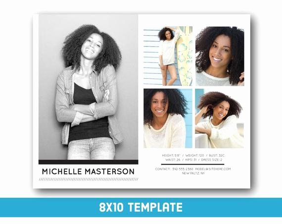 Free Comp Card Template Fresh Customizable Digital Model P Card 8x10 Fashion forward