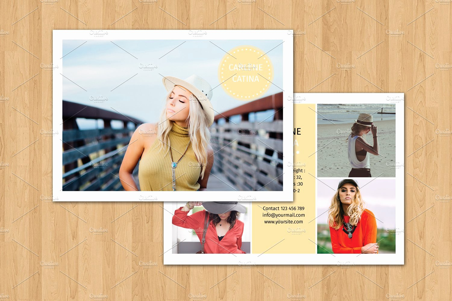Free Comp Card Template Fresh Model P Card Template V374 Flyer Templates Creative
