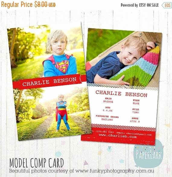Free Comp Card Template Lovely On Sale Model P Card Shop Template by Paperlarkdesigns