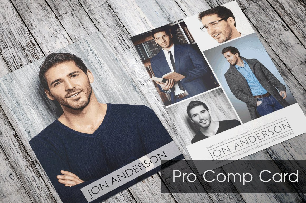 Free Comp Card Template Lovely Pro P Card Template Flyer Templates Creative Market