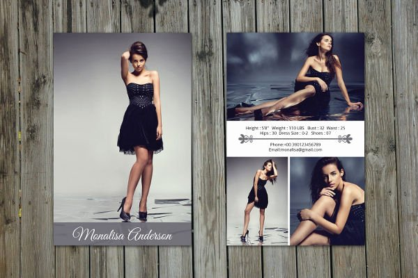 Free Comp Card Template New 8 P Card Templates Free Sample Example format