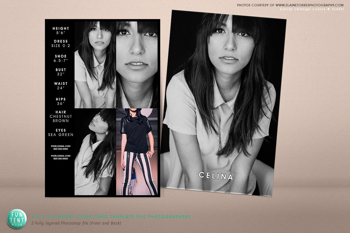 Free Comp Card Template New Model P Card 8 5x5 5 Fashion Presentation Templates