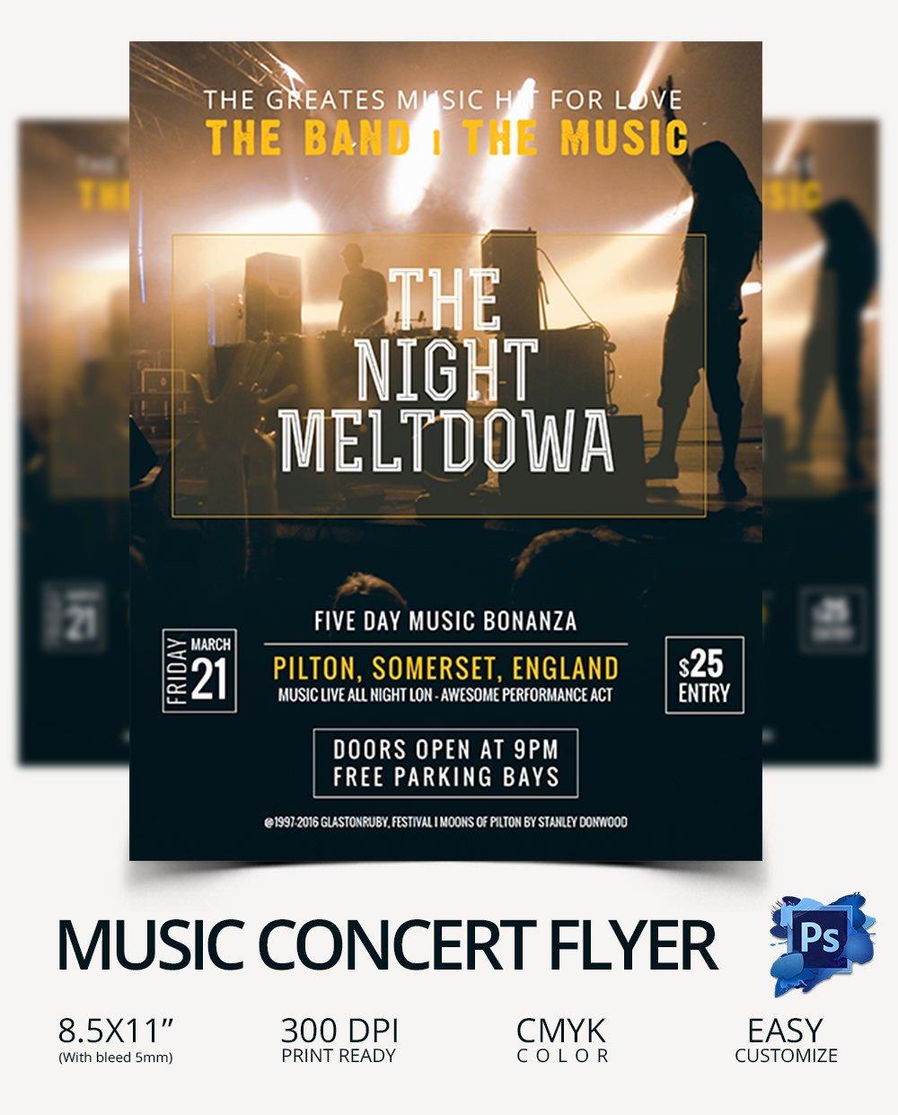 Free Concert Flyer Template Elegant Concert Flyer Template 35 Psd format Download