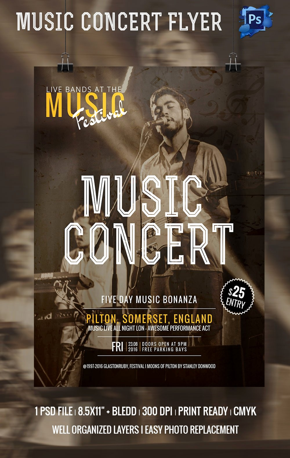 Free Concert Poster Template Beautiful 135 Psd Flyer Templates – Free Psd Eps Ai Indesign