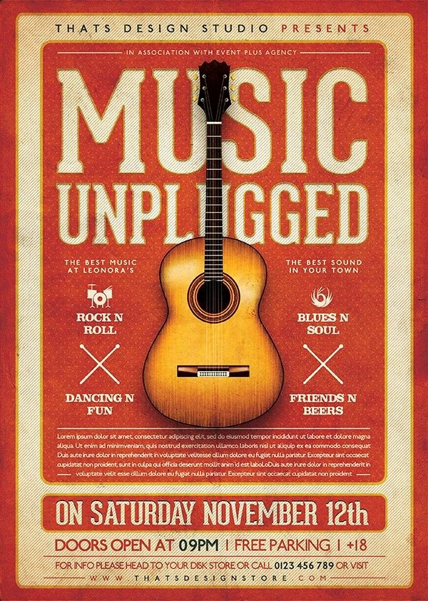Free Concert Poster Template Beautiful 25 Best Ideas About Concert Flyer On Pinterest