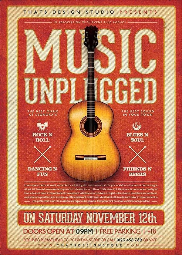 Free Concert Poster Template Beautiful 25 Best Ideas About Concert Flyer On Pinterest