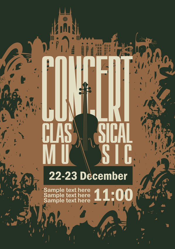 Free Concert Poster Template Best Of Classical Music Retro Concert Poster Template 06 Free