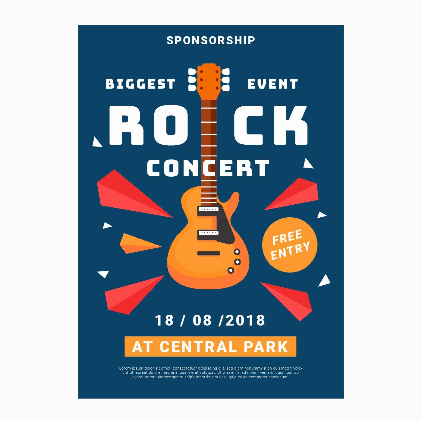 Free Concert Poster Template Elegant Concert Rock Poster Template Download Free Vector Art