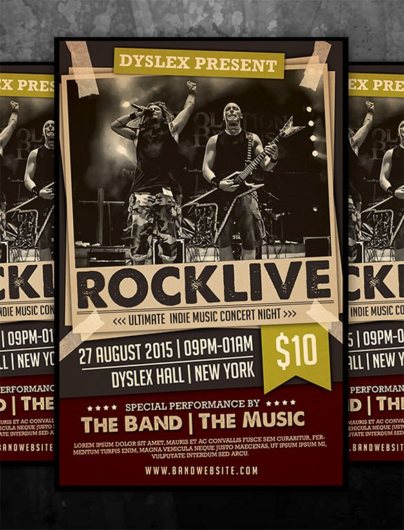 Free Concert Poster Template Inspirational 19 Concert Poster Templates & Designs