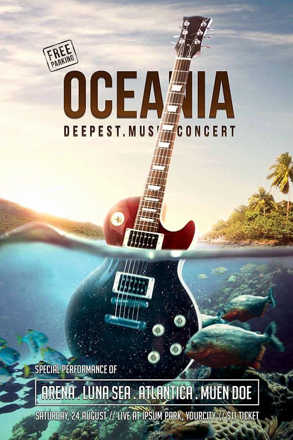 Free Concert Poster Template Luxury Music Flyer Designs