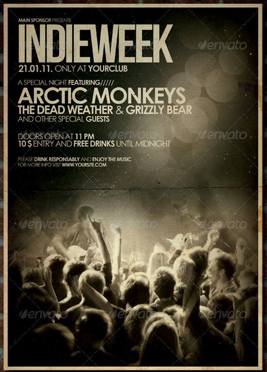Free Concert Poster Template Unique Flyer Templates List Of top 30 Flyer Templates for
