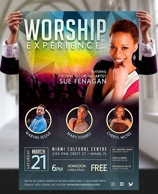 Free Concert Poster Template Unique Worship Concert Poster Templates