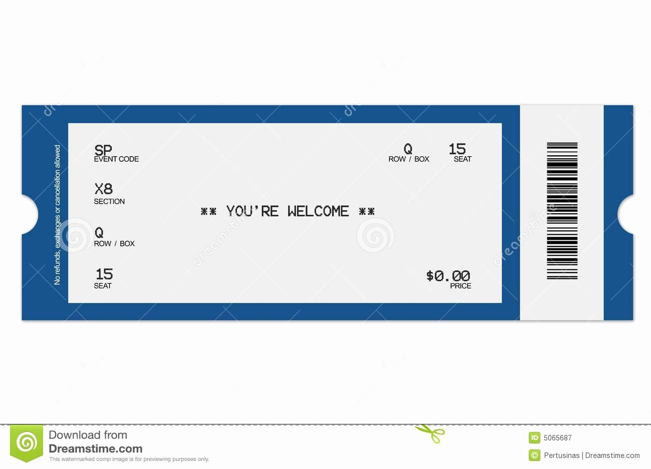 Free Concert Ticket Template Awesome 8 Best Of Football Ticket Templates Blank Printable
