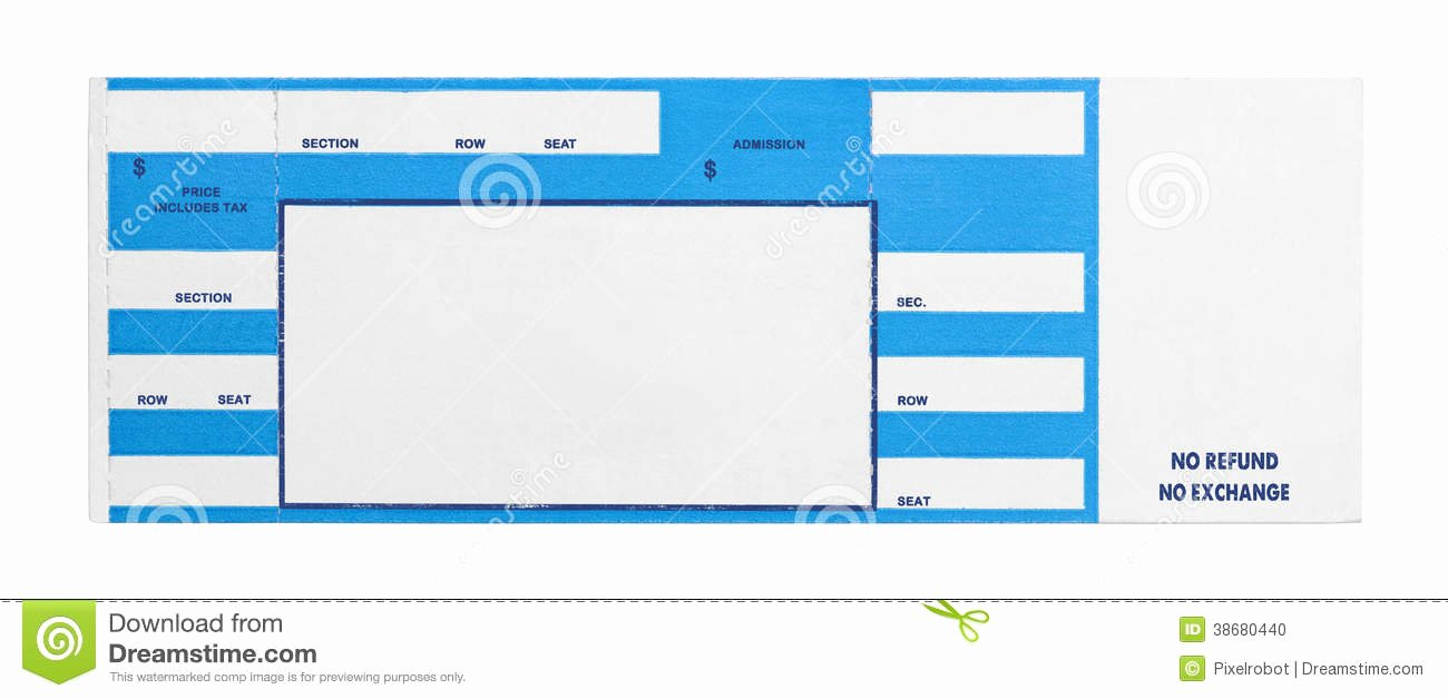 Free Concert Ticket Template New Blank Concert Ticket Clipart