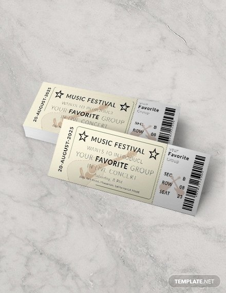 Free Concert Tickets Template Best Of 97 Free Ticket Templates Download Ready Made