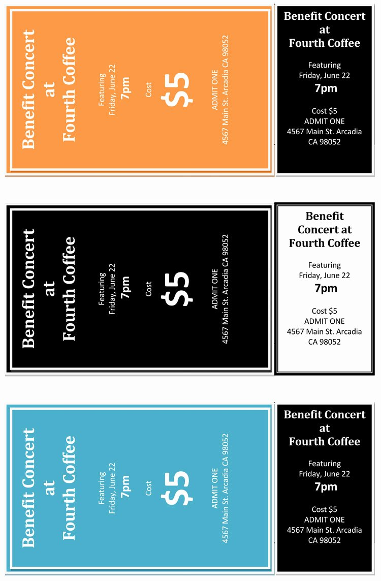 Free Concert Tickets Template Elegant 12 Free event Ticket Templates for Word Make Your Own