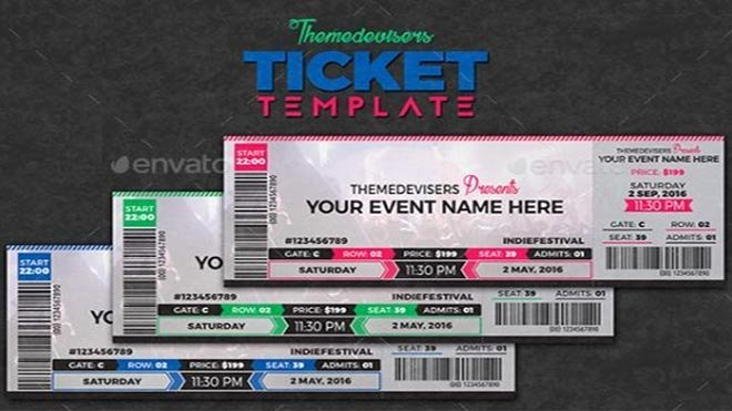 Free Concert Tickets Template Inspirational 11 Concert Ticket Templates In Psd for Shop