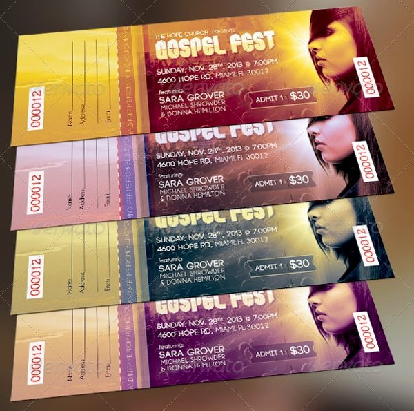 Free Concert Tickets Template Inspirational 26 Ticket Templates Psd Ai Word