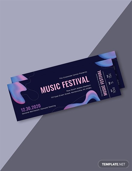 Free Concert Tickets Template New 97 Free Ticket Templates Download Ready Made