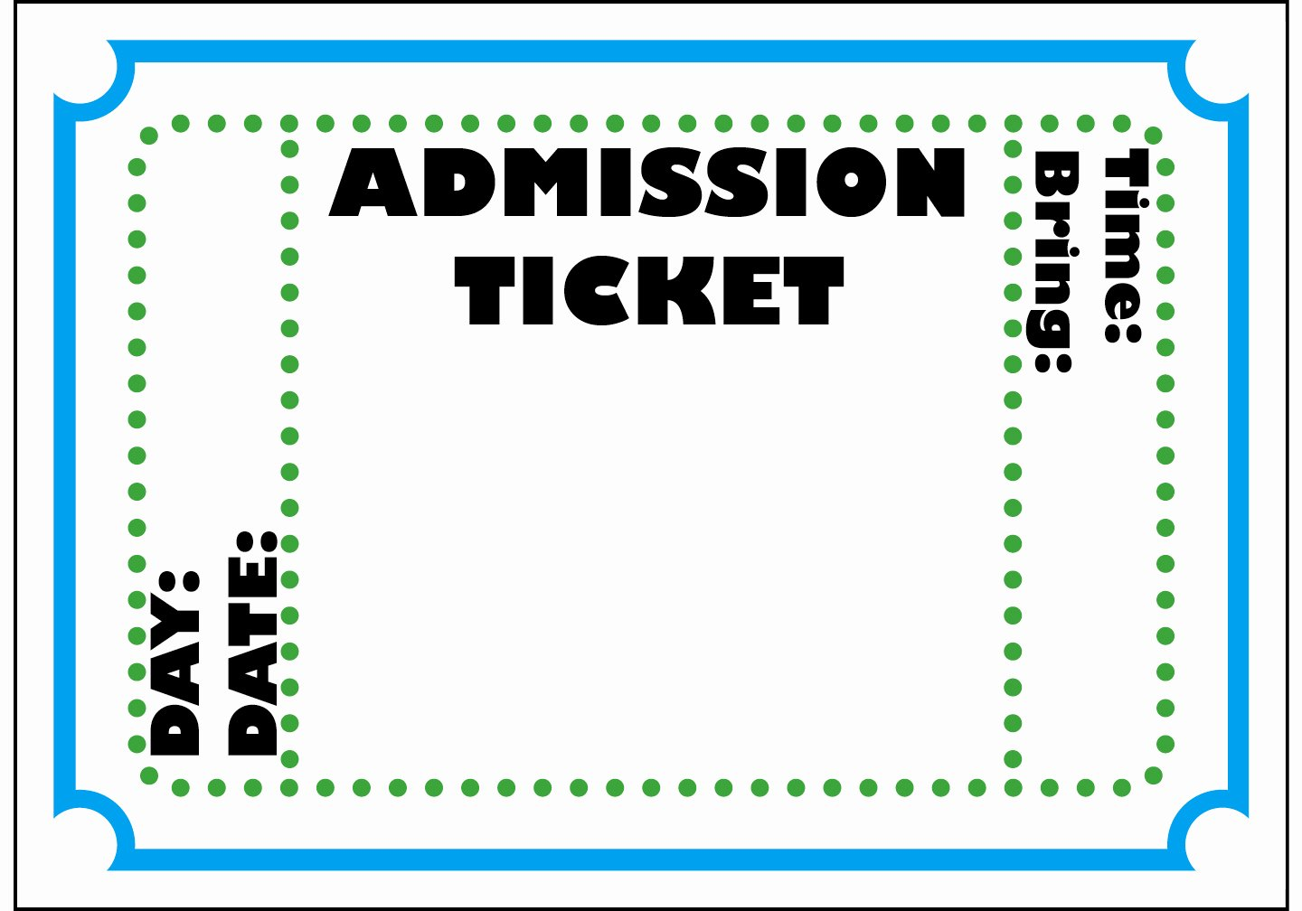 Free Concert Tickets Template New Concert Ticket Template Free Printable