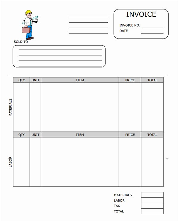 Free Construction Invoice Template Beautiful Free Construction Invoice Template Word